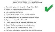 ĐH Quốc gia Hà Nội không ra đề thi 'Thạch Sanh quê ở đâu?'