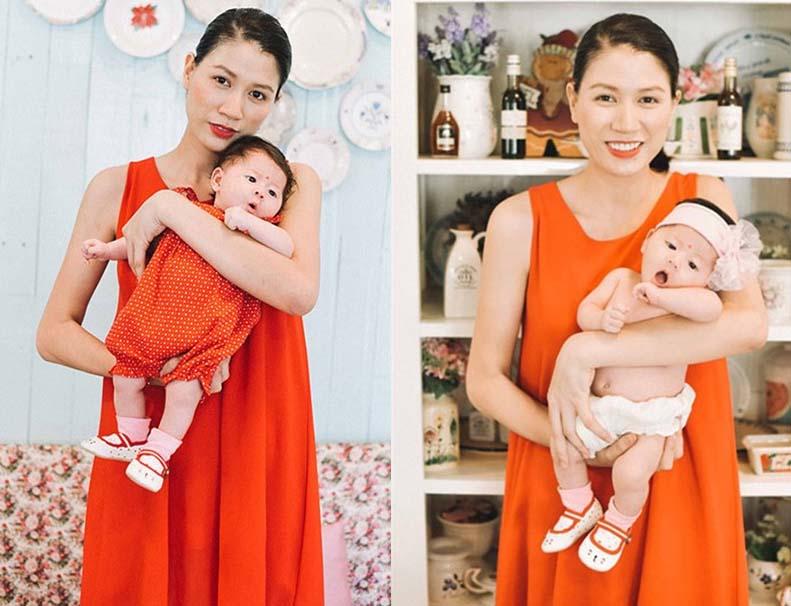 Trang Trần và con gái trong bộ ảnh mới