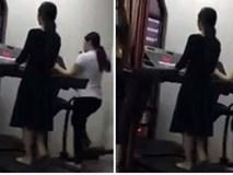 Clip: Nữ học viên đi chân đất, mặc váy đầm tập gym gây tranh cãi