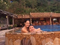 Hoa hậu Hương Giang tận hưởng kỳ nghỉ bên chồng con