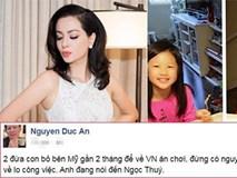 Đại gia Đức An trách Ngọc Thúy bỏ con về Việt Nam ăn chơi