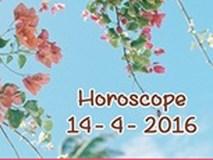 Horoscope ngày thứ Năm (14/4): Thiên Bình chào đón niềm vui bất ngờ