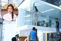 Fan 'thót tim' khi xem hậu trường chụp hình của Hoa hậu Phạm Hương