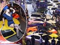 Nhà giàu Trung Quốc tổ chức tiệc siêu xe khiến giao thông ùn tắc