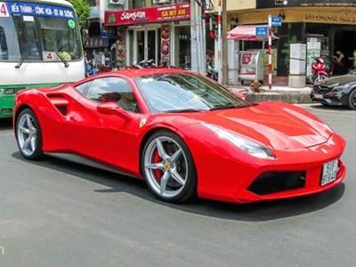 Siêu xe Ferrari 488 GTB màu đỏ thứ 2 trên 14 tỷ ở Sài Gòn