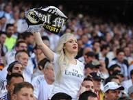 Fan nữ xinh đẹp của Real Madrid khiến cameraman không rời mắt