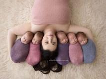 Hình ảnh yêu chết đi được của bà mẹ sinh 5 nổi tiếng thế giới