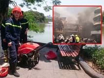 Hút nước Hồ Gươm để chữa cháy nhà trong phố cổ