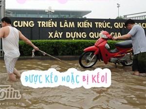 Ảnh chế Hà Nội ngập: Khi chiếc dép cũng bỏ bạn đi!