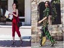 Phạm Hương tươi tắn diện cây đồ hiệu Versace xuống phố