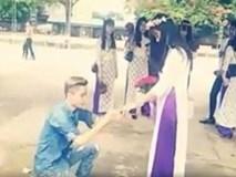 9X Hải Dương cầu hôn bạn gái trong lễ tốt nghiệp THPT