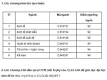 ĐH Quốc gia Hà Nội công bố điểm chuẩn 2016