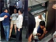 Nhiều người hoảng loạn khi thang máy lên đến tầng 18 thì tụt xuống tầng 1