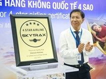 Vietnam Airlines đón chuyến bay mang chứng chỉ 4 sao của SkyTrax