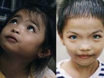 Đôi mắt màu xanh kỳ lạ của hai anh em câm điếc bán vé số