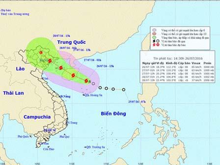 Bão số 1: Mưa lớn toàn vùng Đông bắc bộ