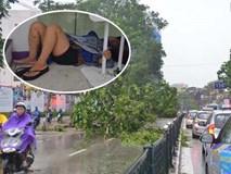 Bất chấp nguy hiểm, gió to, người dân lao vào cứu 2 phụ nữ bị cây đè do bão