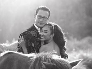 Đoan Trang tung ảnh cưới chưa từng tiết lộ cùng chồng Tây