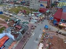 Bãi chiến trường sau khi vòi rồng quét qua Bắc Ninh