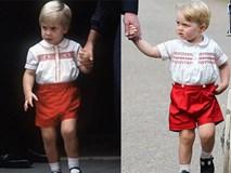 Khoảnh khắc giống nhau như hai giọt nước của bố con Hoàng tử William
