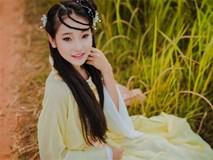 """Bộ ảnh nữ sinh lớp 10 """"hóa"""" chị Hằng Nga xinh đẹp"""