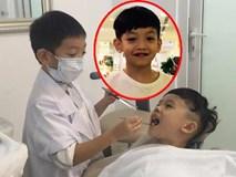 """""""Cười đau bụng"""" với màn khám răng của con trai Hồ Ngọc Hà"""