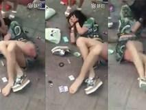 Xôn xao clip đánh ghen: Bồ nhí gào khóc vật vã vì đau đớn, người đi đường dửng dưng