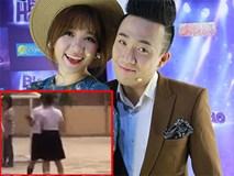Lộ clip Trấn Thành, Hari Won vô tư ôm hôn nhau trong trường học
