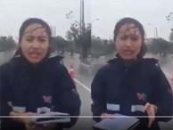Nữ phóng viên VTV bị nghi làm màu ở Nam Định giữa bão số 3