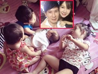 """Vợ chồng Lý Hải - Minh Hà đã """"được nghỉ ngơi"""" dù đàn con còn lít nhít"""