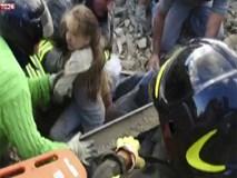 """""""Cô bé còn sống"""" khoảnh khắc vỡ òa cứu bé gái bị vùi 17 giờ sau động đất ở Italy"""
