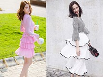 Không chỉ tín đồ thế giới, phái đẹp Việt cũng đang mê mẩn váy xếp tầng siêu nữ tính