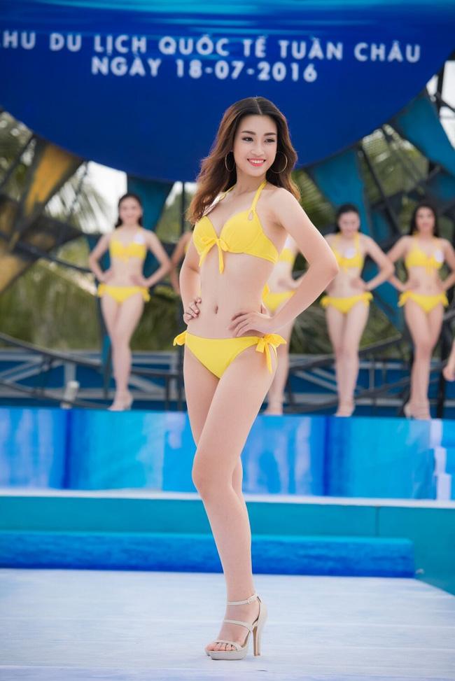 Trong phần thi Người đẹp biển, cô là một trong những thí sinh có đường cong chuẩn nhất.