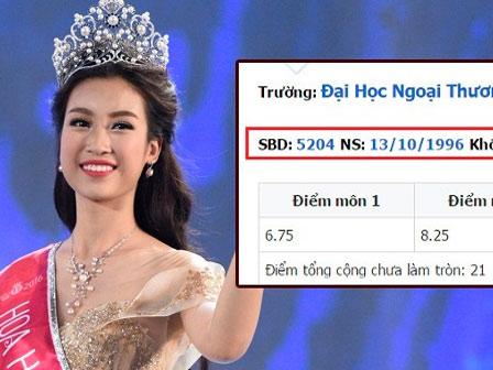 Hot: Bất ngờ với điểm thi Đại học của tân Hoa hậu Việt Nam Đỗ Mỹ Linh