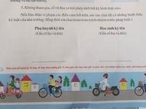 Bắt học sinh lớp 1 phải ký văn bản cam kết an toàn giao thông!