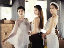 Lần đầu tiên dàn hậu Việt đình đám chụp chung trong bộ ảnh yếm lụa