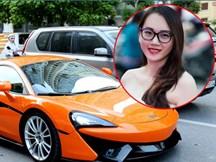 Ngọc Thạch được chồng lái siêu xe gần 20 tỷ đưa đi sự kiện
