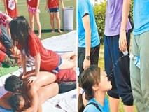 Hành động như trò... khiêu dâm, nhóm sinh viên bị lên án gay gắt