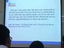 """""""Đỏ mặt"""" vì bài giảng tại Trường Đại học Hoa Sen"""