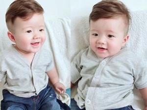 Con trai Elly Trần đẹp trai như Hoàng tử sau khi cắt tóc