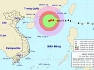 Vào biển Đông, bão số 6 mạnh lên giật cấp 11 - 12
