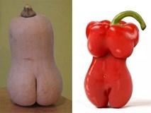 Ngỡ ngàng thân hình kỳ quái của rau củ quả