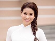 Không phải đầm dạ hội cầu kì, Phạm Hương đẹp nhất là khi diện áo dài trắng