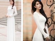 Phạm Hương mặc áo dài trắng thua xa Ngọc Trinh