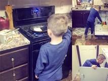 Cậu bé 6 tuổi nấu cơm, rửa bát tinh tươm và bài học dạy con không thể chuẩn hơn