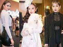 Chi Pu - Phạm Hương sexy ngang ngửa, Angela Phương Trinh ôm chó lên thảm đỏ thời trang