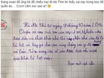 Cảm động lá thư gửi 'người bạn lạ' sau cơn lũ lụt của cậu bé lớp 4