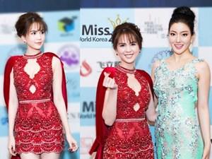 """Ngọc Trinh sexy """"lấn át"""" dàn mỹ nhân xứ Hàn trên thảm đỏ"""