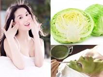 Công thức xóa nám, tẩy mụn cực đơn giản từ rau ngót, mùng tơi, bắp cải