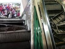 """Thang cuốn trong trung tâm thương mại """"nổ tung"""", khách hàng hoảng sợ bỏ chạy"""